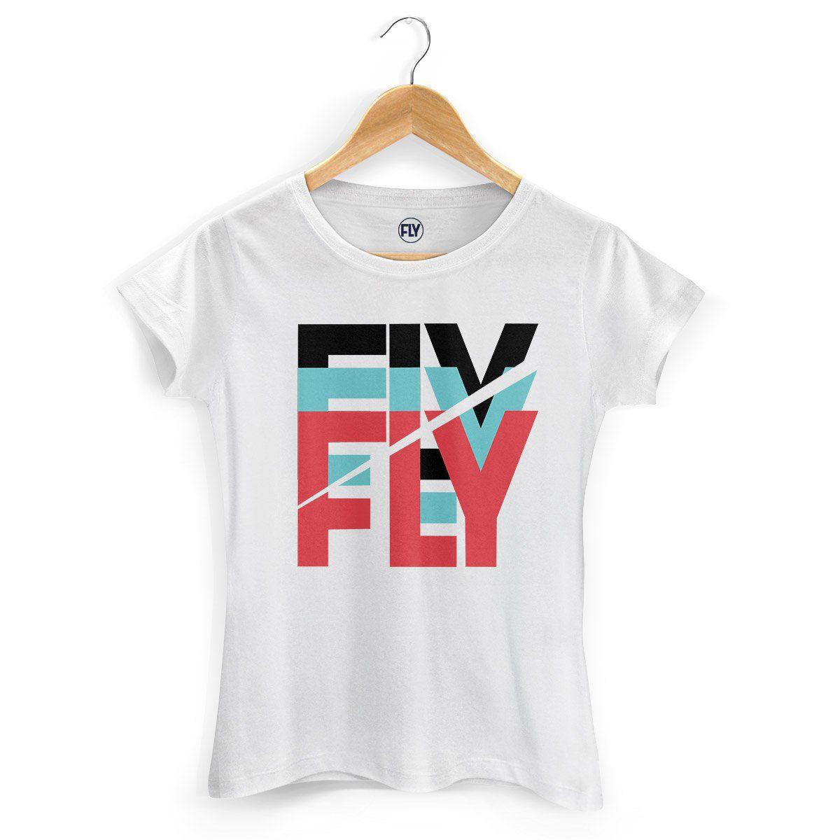 Camiseta Feminina Banda Fly Logo Colors  - bandUP Store Marketplace