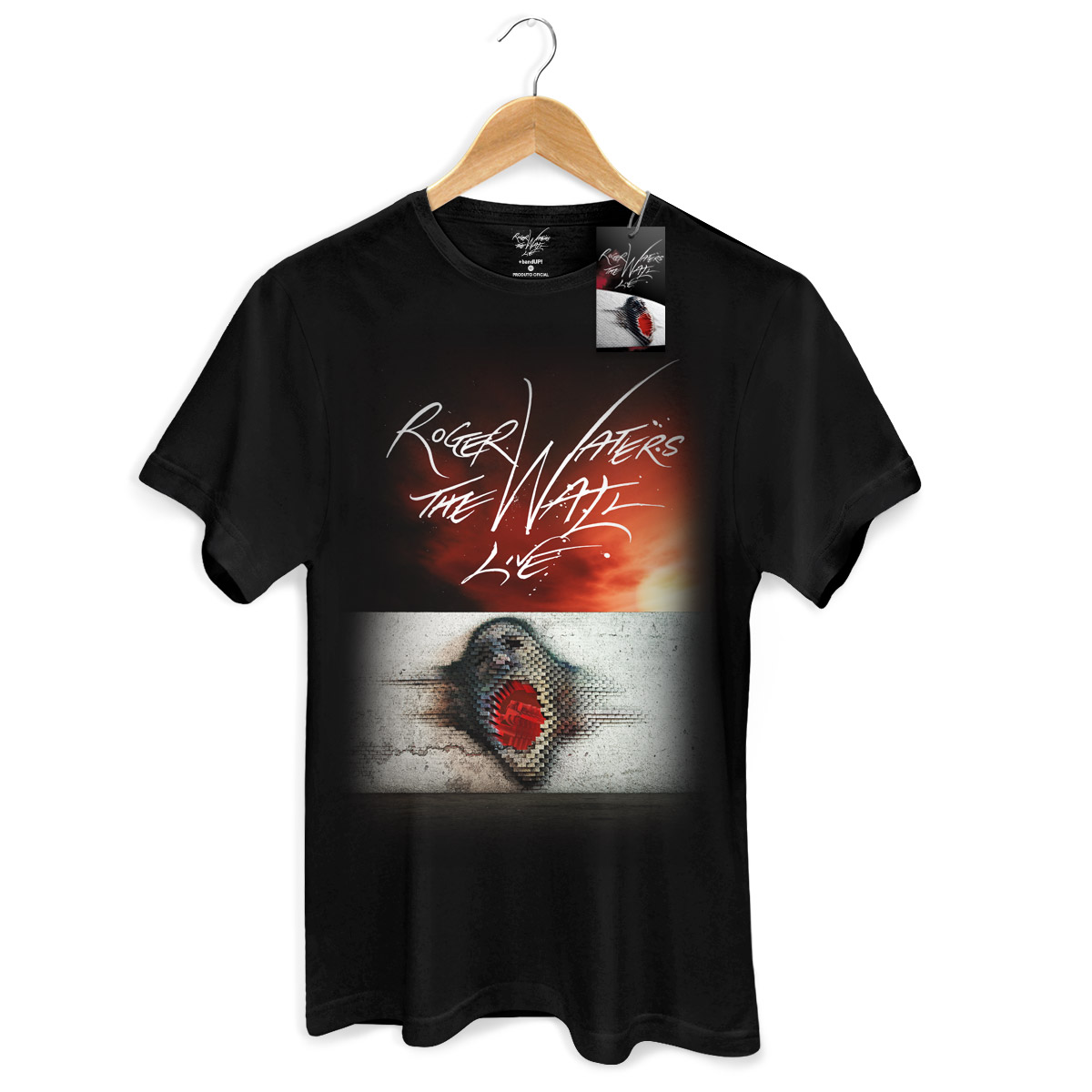 Camiseta Masculina Roger Waters The Wall Live  - bandUP Store Marketplace