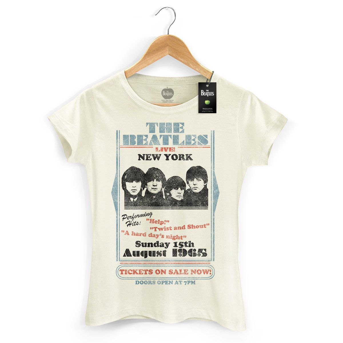Camiseta Feminina The Beatles Tickets On Sale Now!  - bandUP Store Marketplace