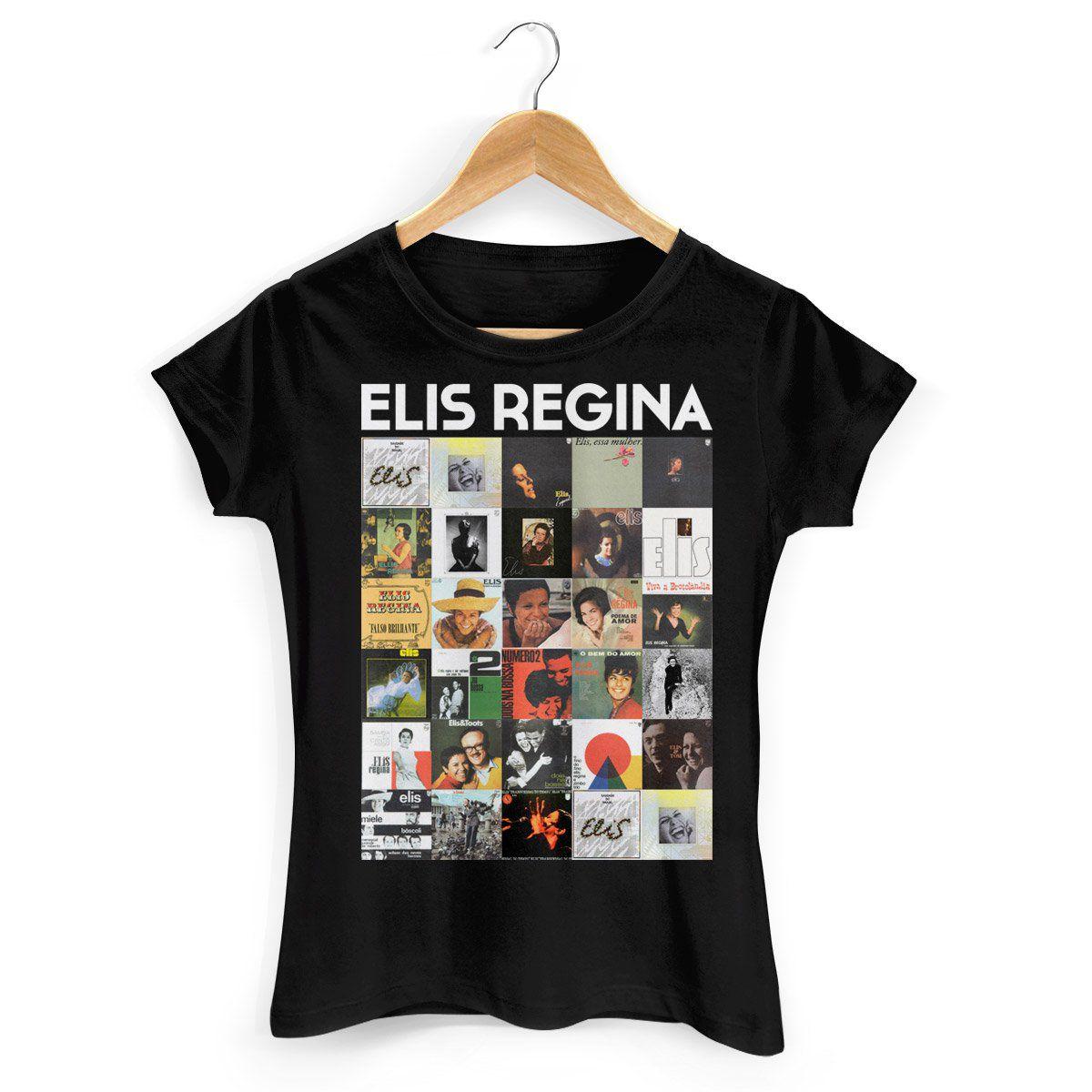 Camiseta Feminina Elis Regina Capas 2  - bandUP Store Marketplace