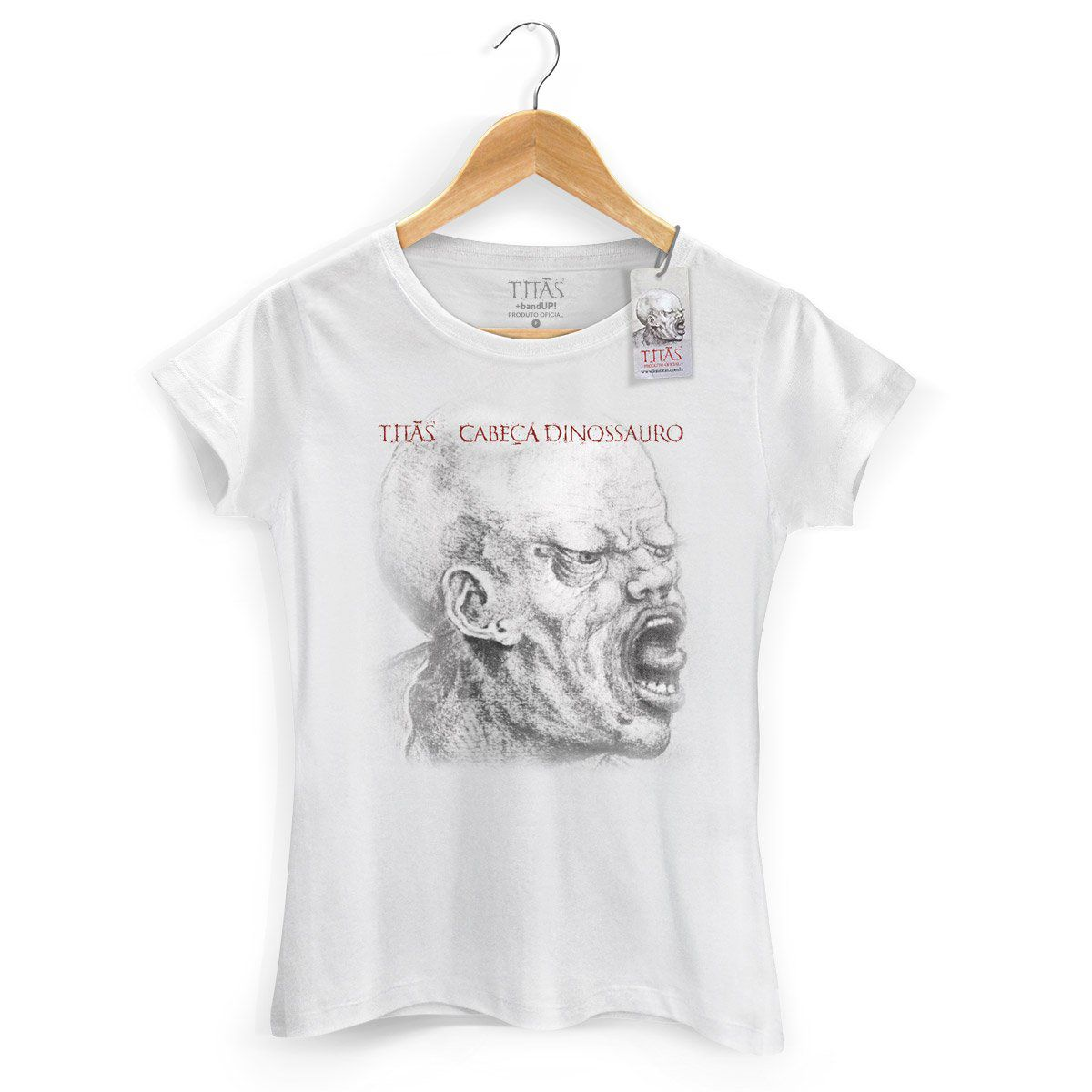 Camiseta Feminina Titãs Cabeça Dinossauro  - bandUP Store Marketplace