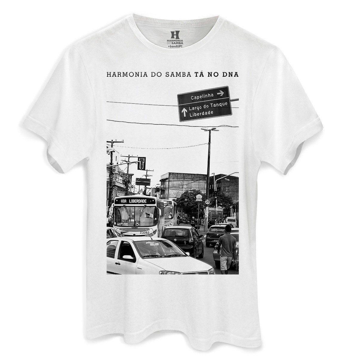 Camiseta Masculina Harmonia do Samba Cidade  - bandUP Store Marketplace
