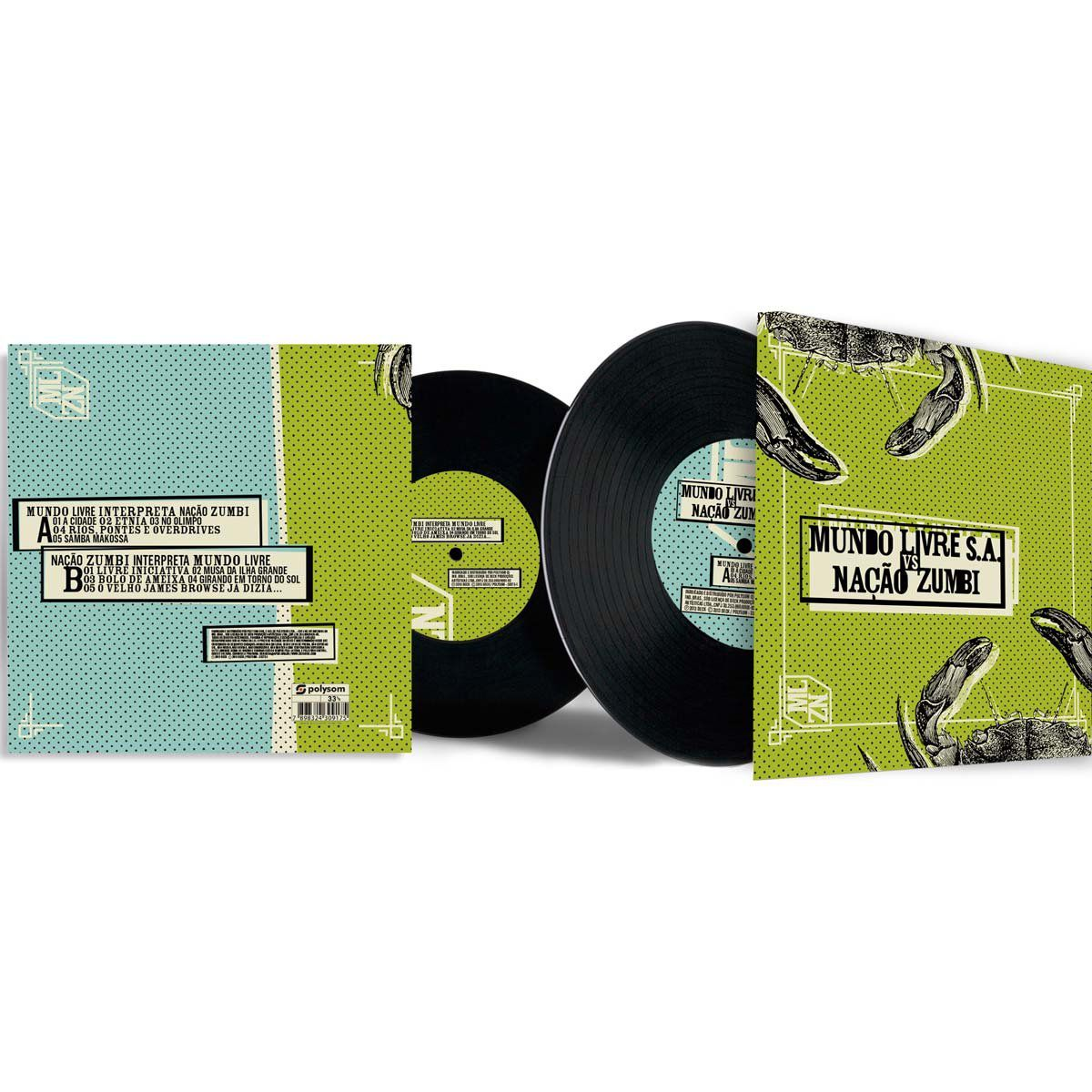LP Mundo Livre x Nação Zumbi  - bandUP Store Marketplace