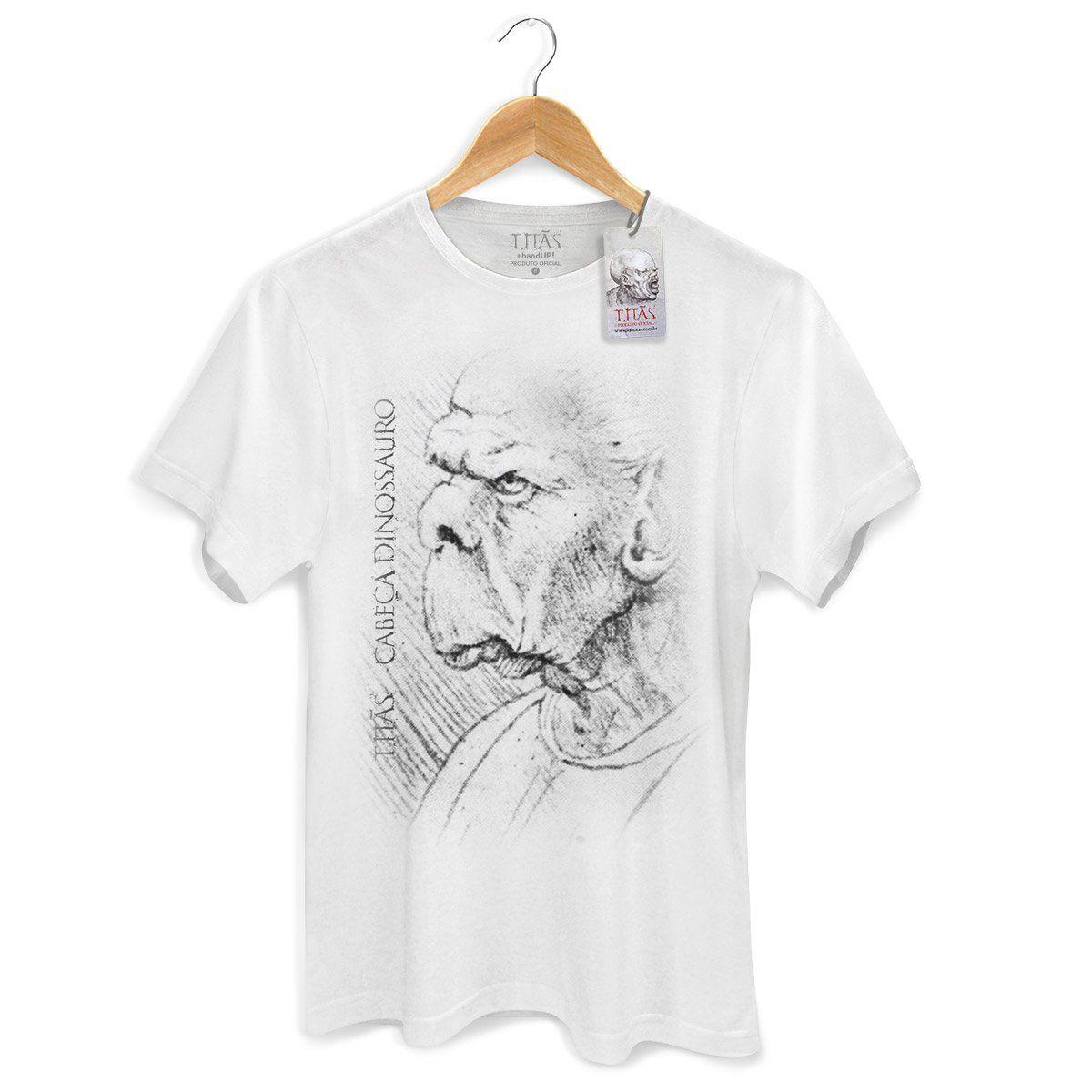 Camiseta Masculina Titãs Cabeça Dinossauro 2  - bandUP Store Marketplace