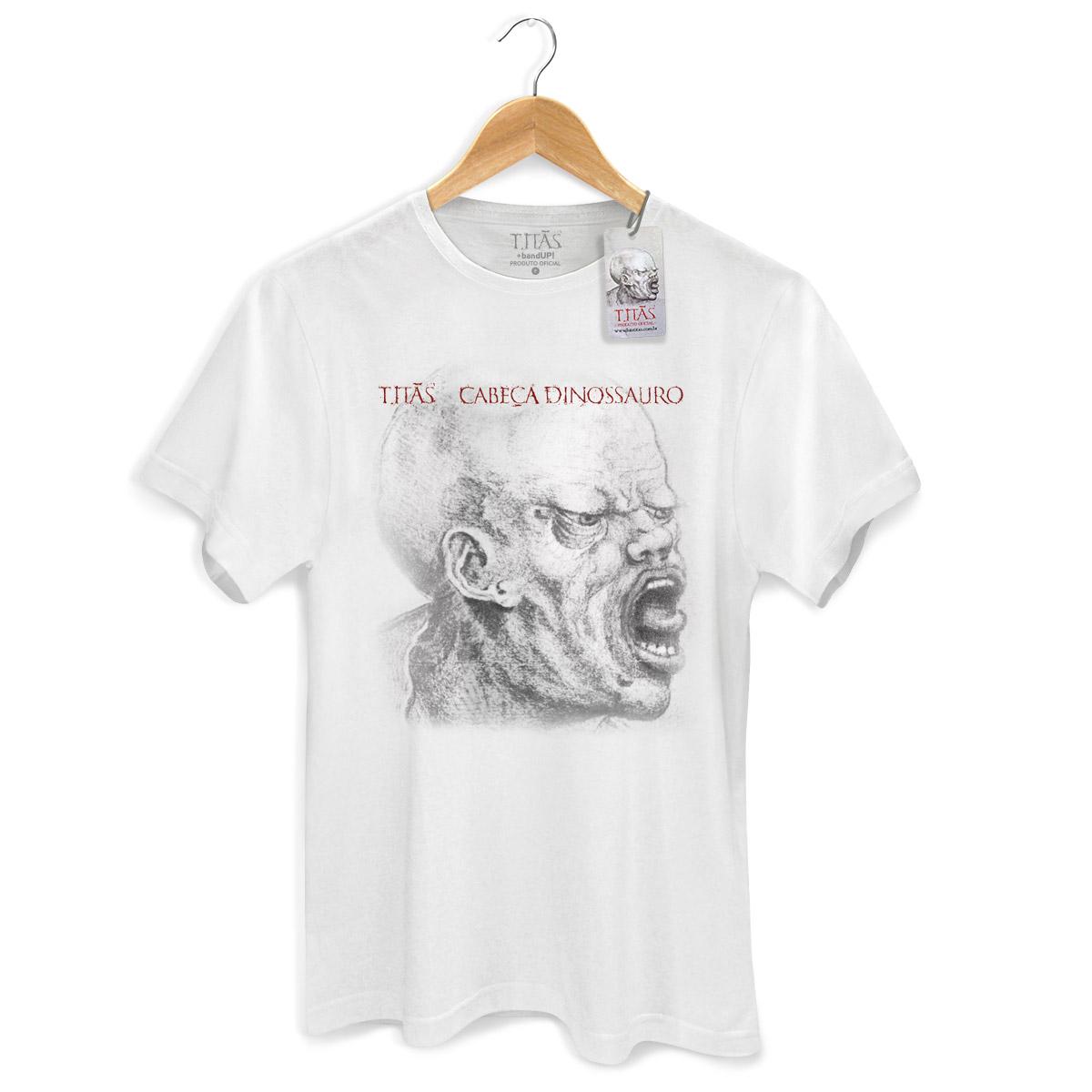 Camiseta Masculina Titãs Cabeça Dinossauro  - bandUP Store Marketplace