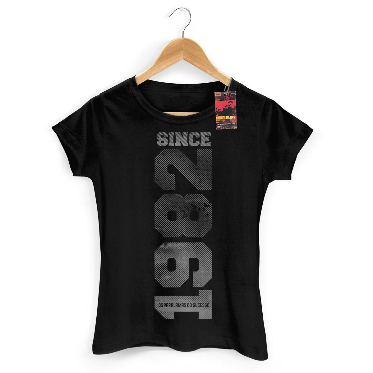 Camiseta Feminina Os Paralamas do Sucesso Since 1982 Preta  - bandUP Store Marketplace