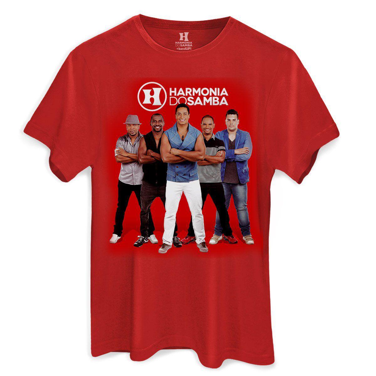Camiseta Masculina Harmonia do Samba Grupo  - bandUP Store Marketplace