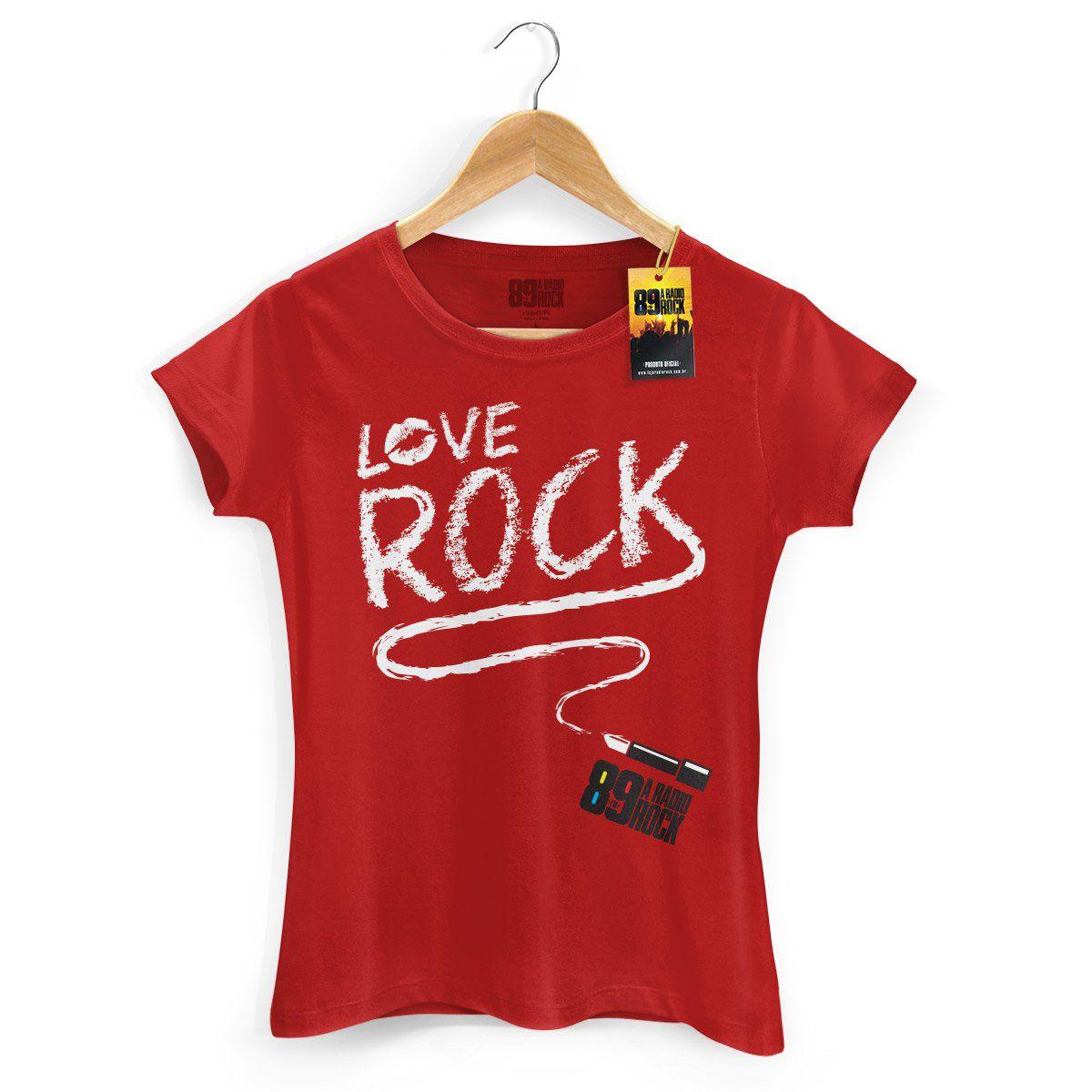Camiseta Feminina 89 FM Love Rock  - bandUP Store Marketplace