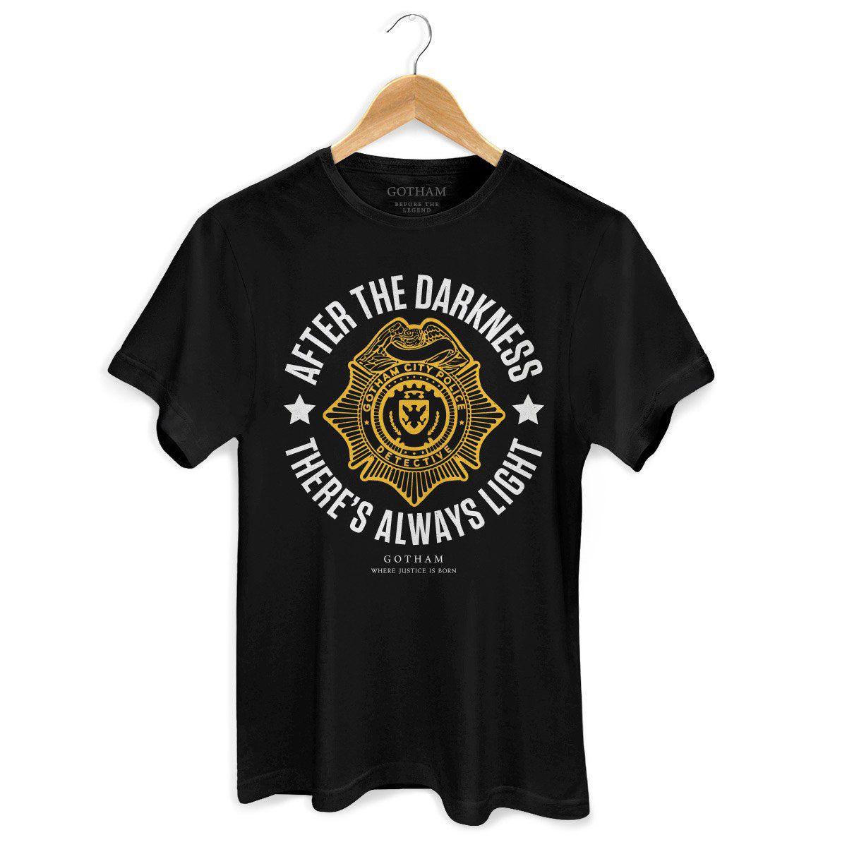 Camiseta Masculina Gotham There´s Always Light  - bandUP Store Marketplace