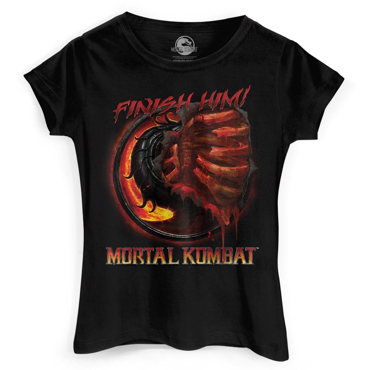 Camiseta Feminina Mortal Kombat Fatality  - bandUP Store Marketplace