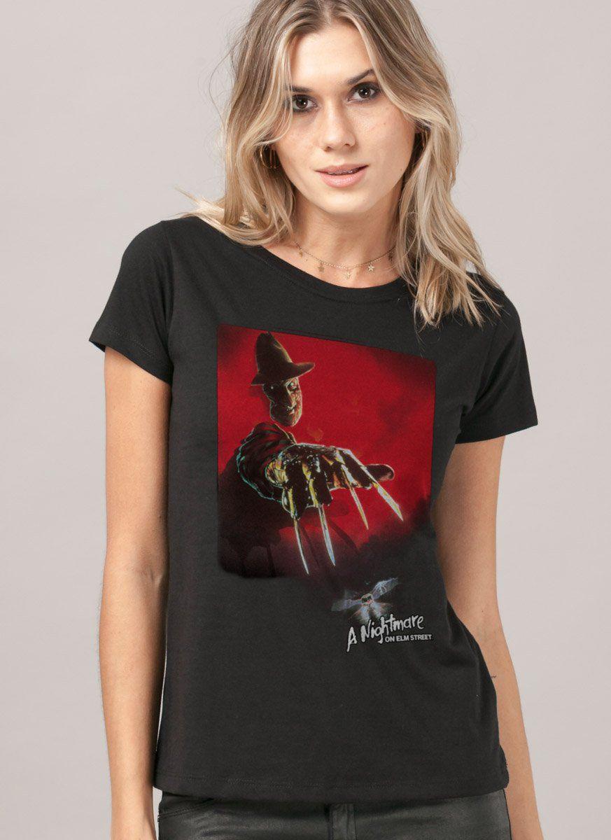 Camiseta A Hora do Pesadelo Freddy Krueger Feminina  - bandUP Store Marketplace