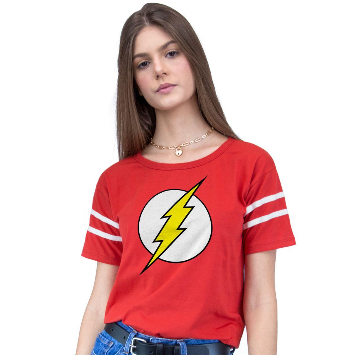 Camiseta Athletic Feminina The Flash Logo  - bandUP Store Marketplace