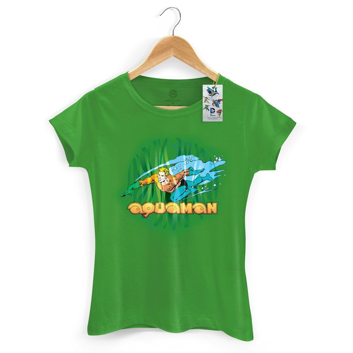 Camiseta Feminina Aquaman Force 2  - bandUP Store Marketplace