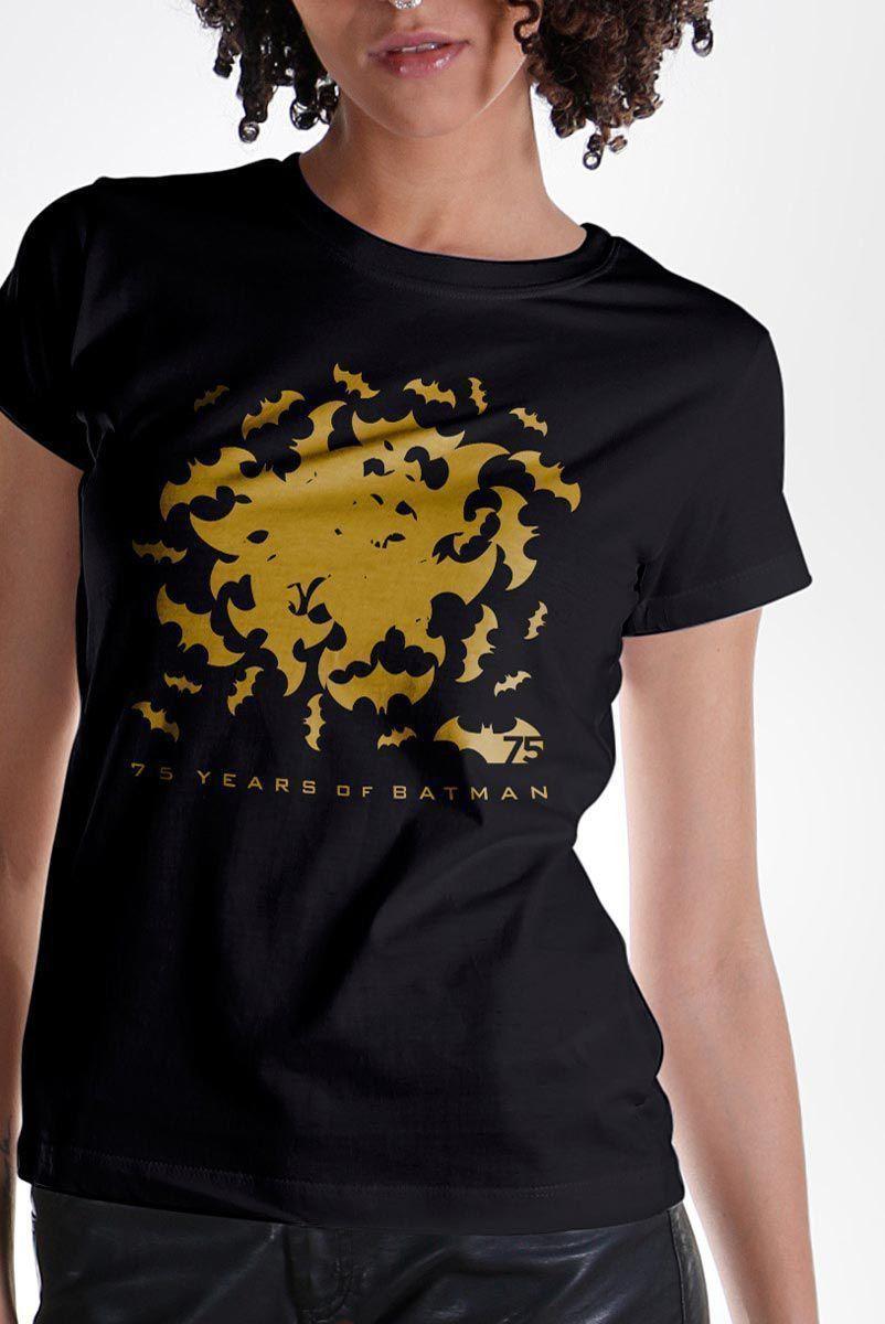 Camiseta Feminina Batman 75 Anos Bats  - bandUP Store Marketplace