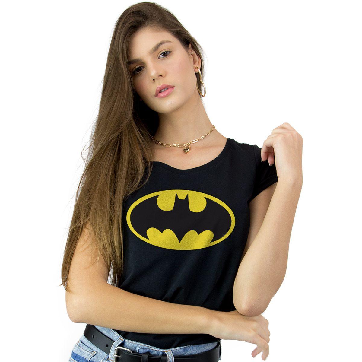 Camiseta Feminina Batman Logo Clássico  - bandUP Store Marketplace