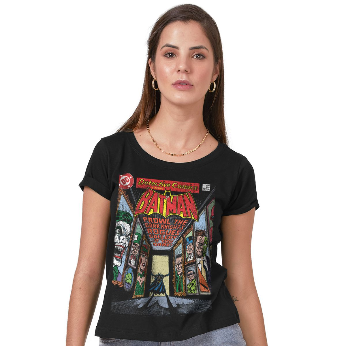 Camiseta Feminina Batman Rogues Gallery  - bandUP Store Marketplace