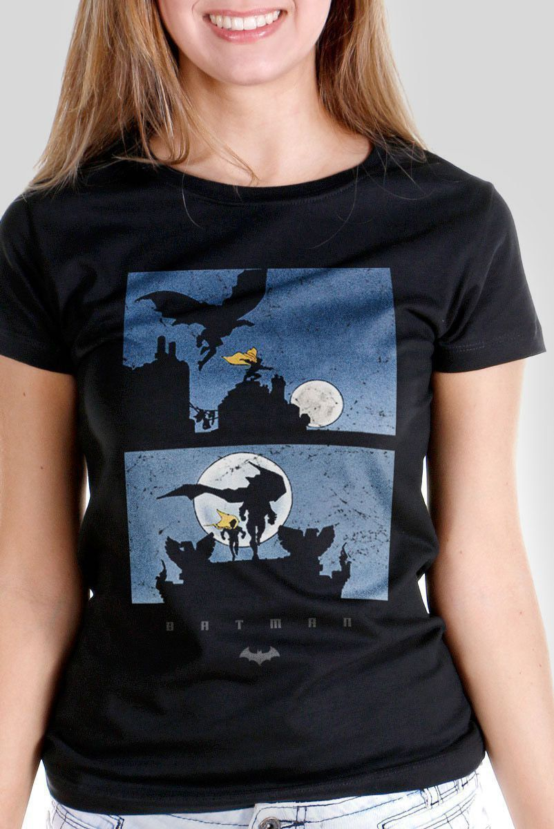 Camiseta Feminina Batman Shadow  - bandUP Store Marketplace