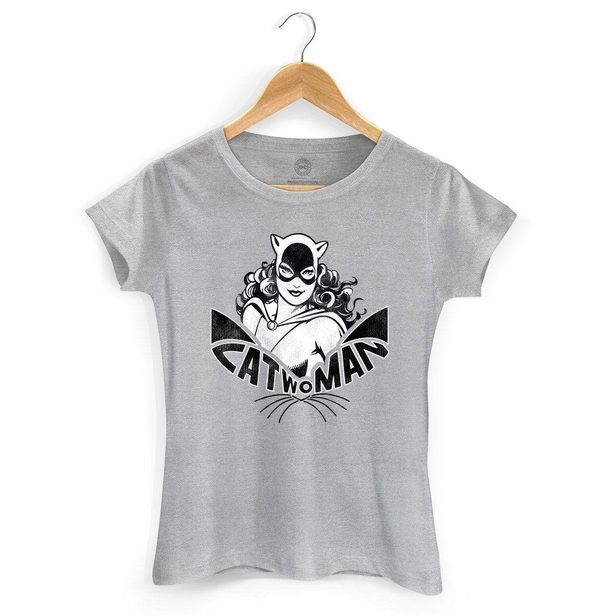 Camiseta Feminina Catwoman Oficial  - bandUP Store Marketplace