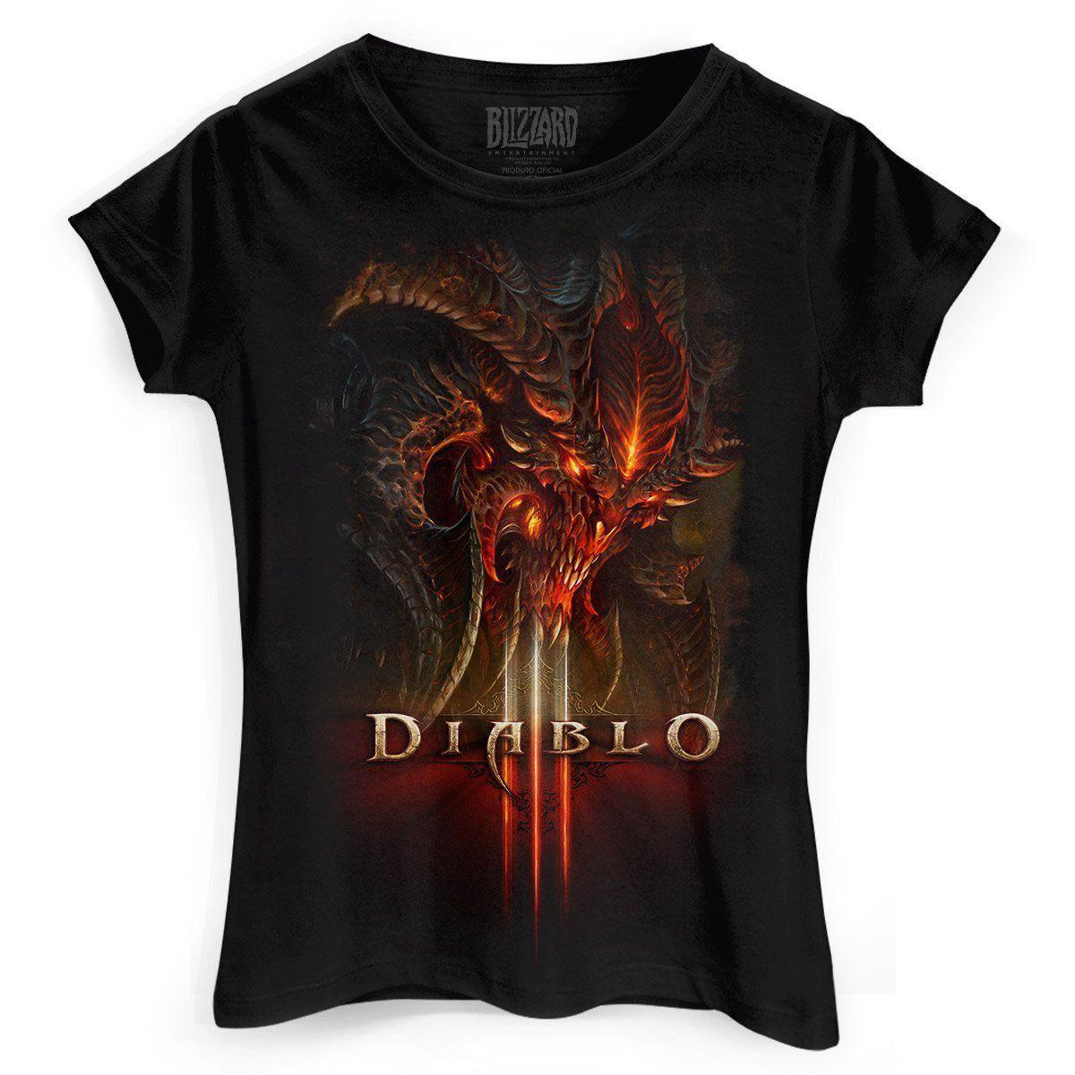 Camiseta Feminina Diablo III Head  - bandUP Store Marketplace