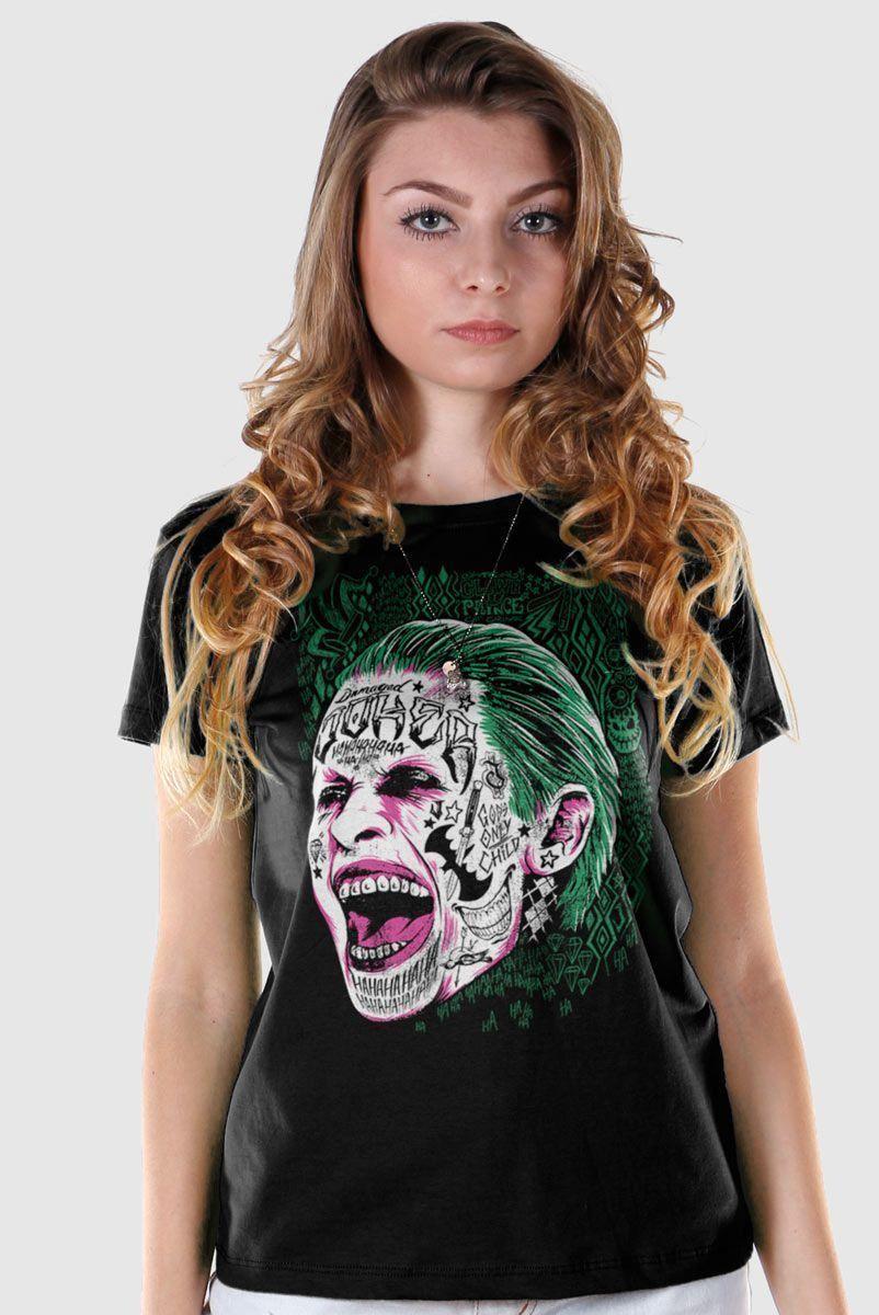 Camiseta Feminina Esquadrão Suicida The Joker Prince of Crime  - bandUP Store Marketplace