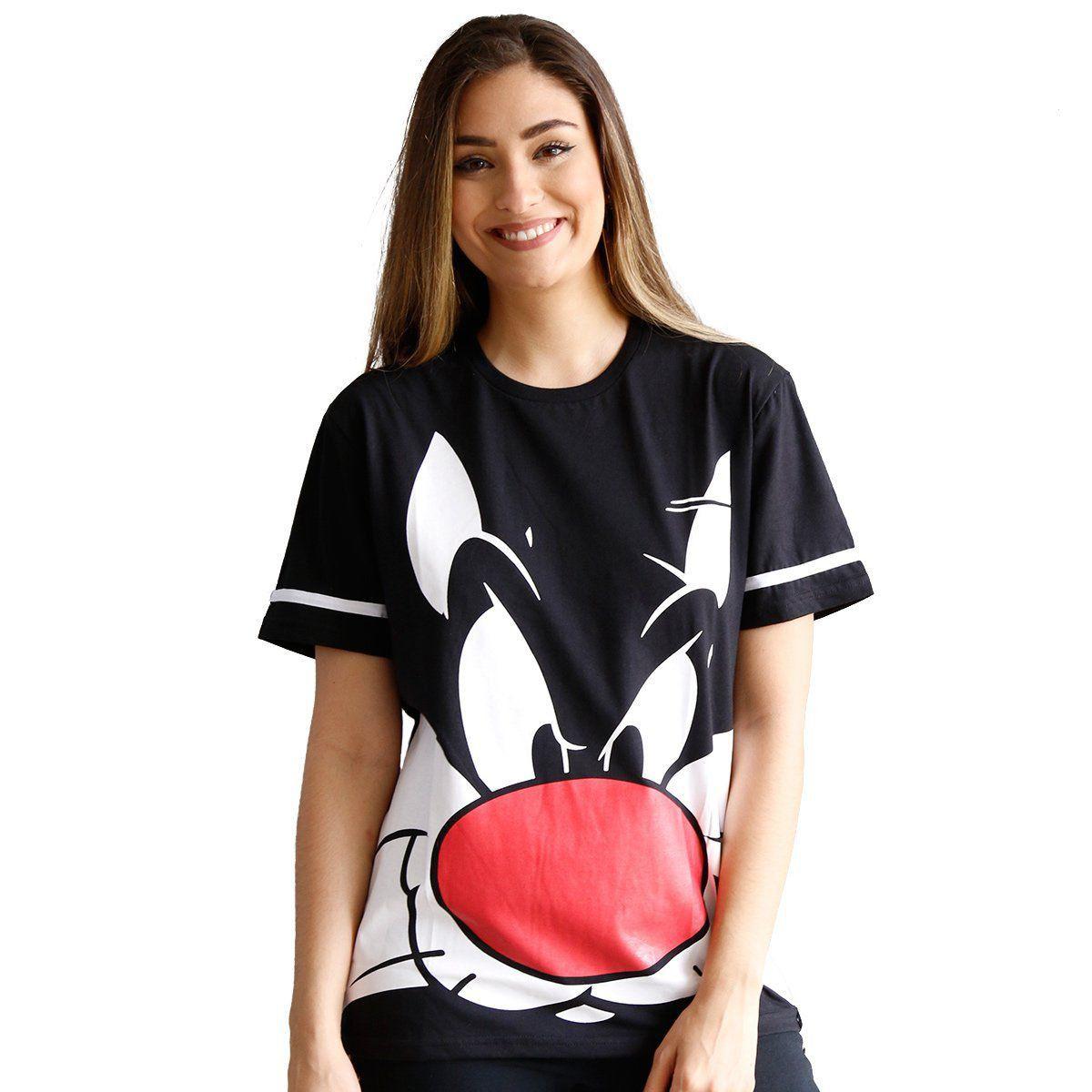 Camiseta Feminina Frajola Face Oficial  - bandUP Store Marketplace