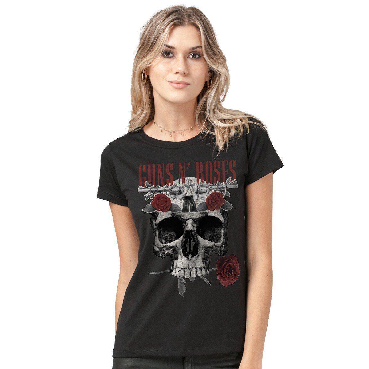 Camiseta Feminina Guns N