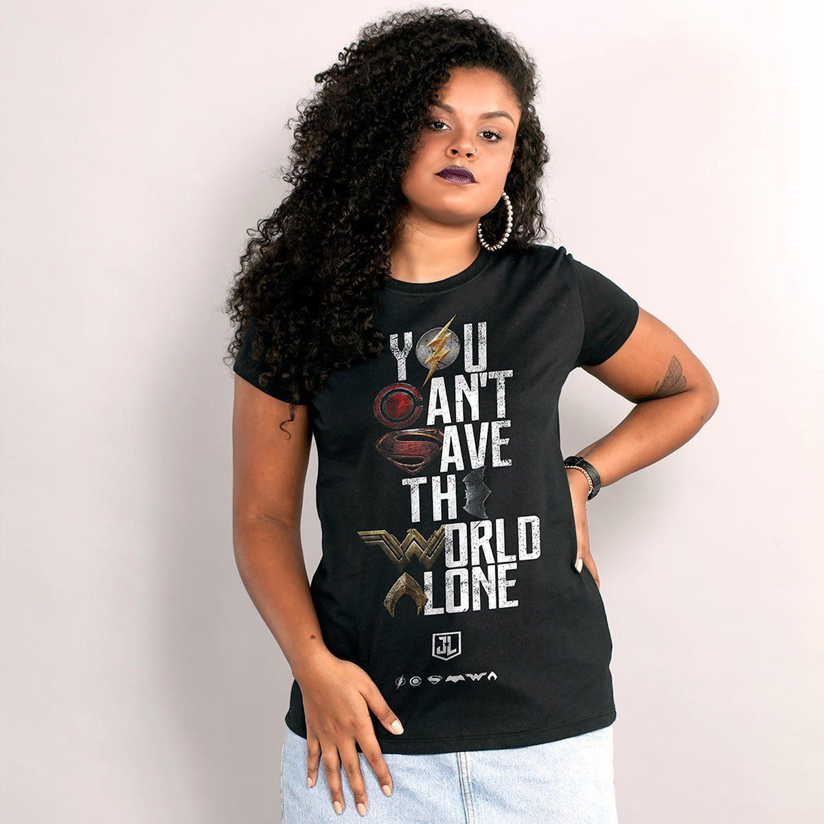 Camiseta Feminina Liga da Justiça You Cant Save Color Oficial  - bandUP Store Marketplace