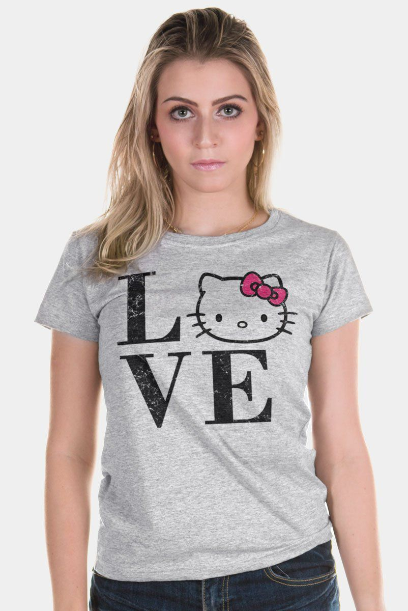 Camiseta Feminina Love Hello Kitty  - bandUP Store Marketplace