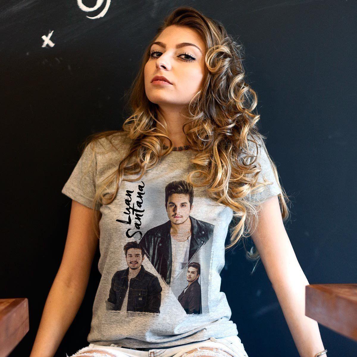 Camiseta Feminina Luan Santana Poses Oficial  - bandUP Store Marketplace