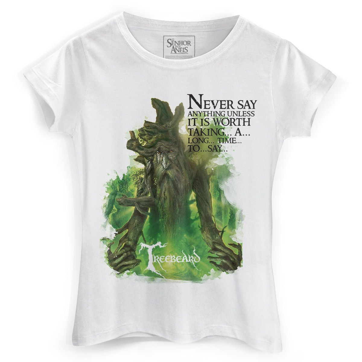 Camiseta Feminina O Senhor dos Anéis Treebeard  - bandUP Store Marketplace