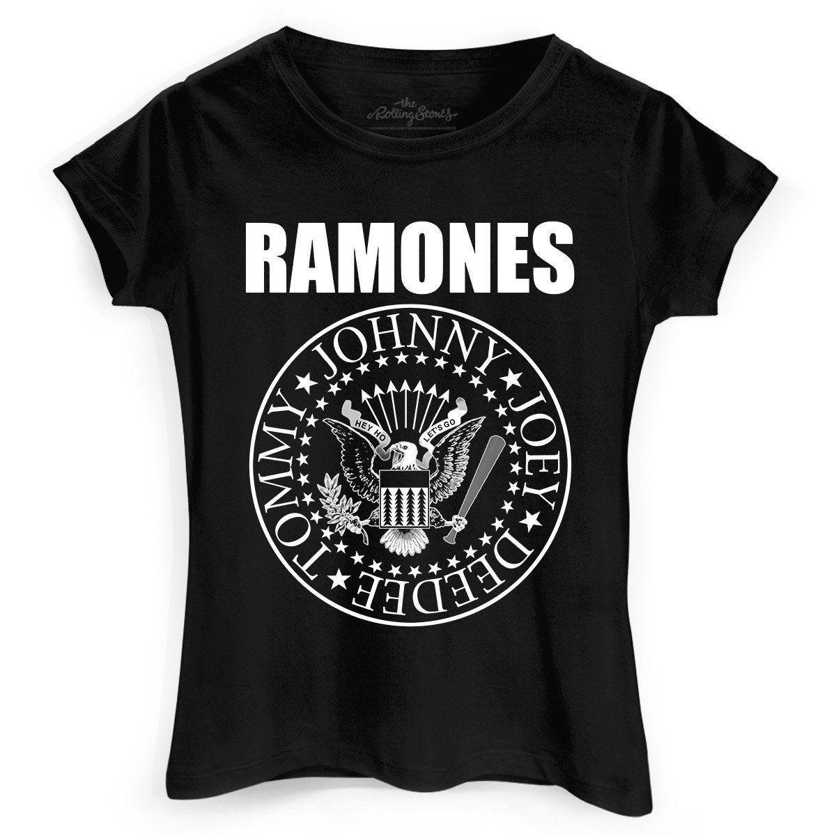 Camiseta Feminina Ramones Logo  - bandUP Store Marketplace