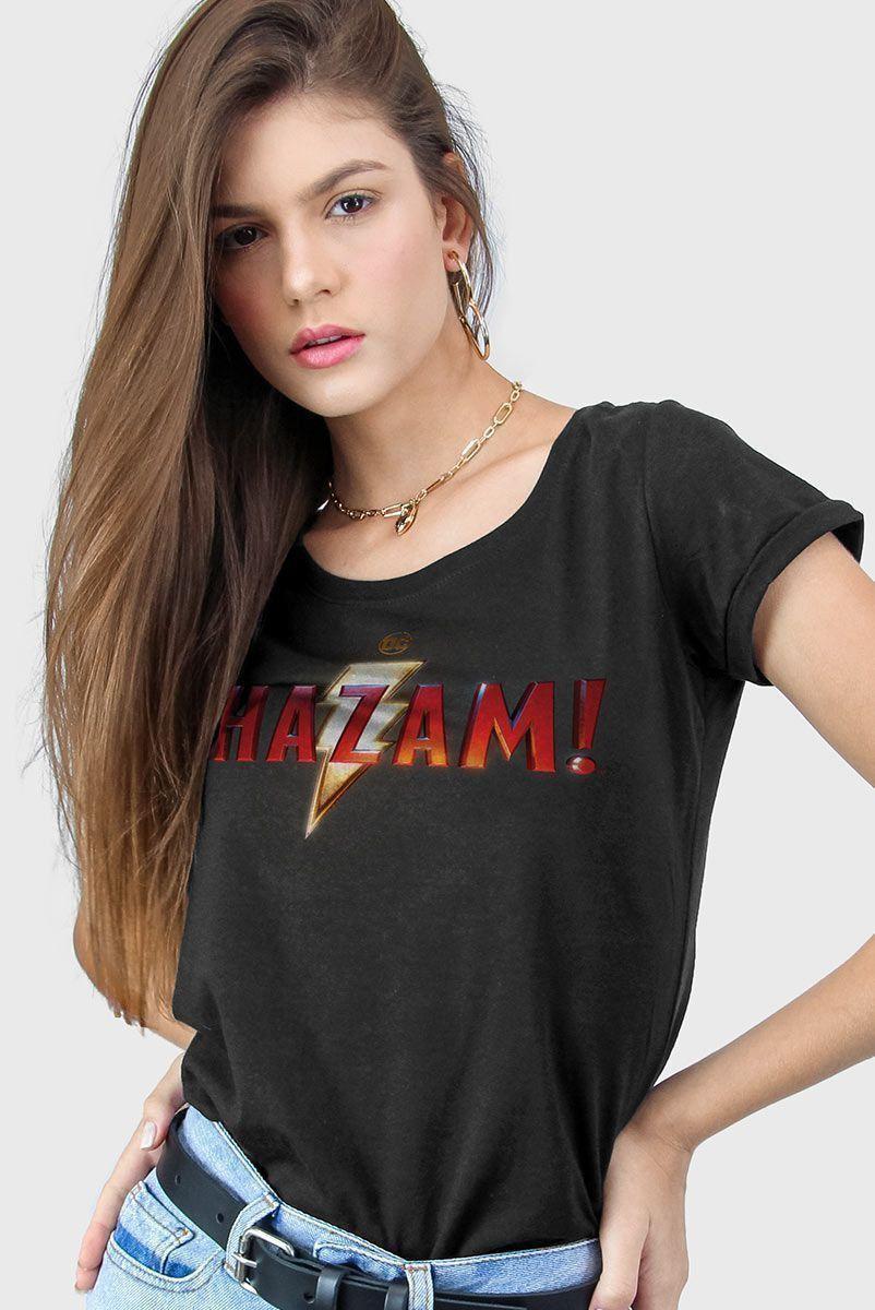Camiseta Feminina Shazam Logo Clássico  - bandUP Store Marketplace