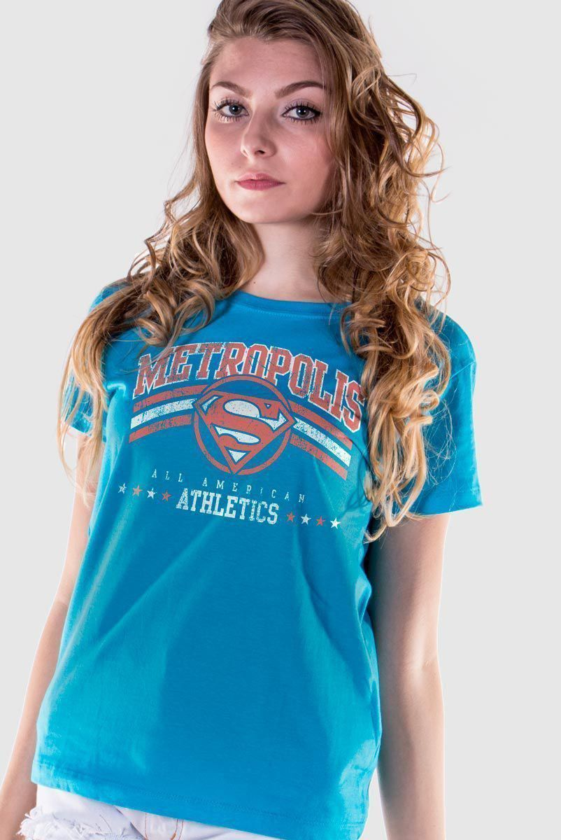 Camiseta Feminina Superman Metropolis All American Athletics  - bandUP Store Marketplace