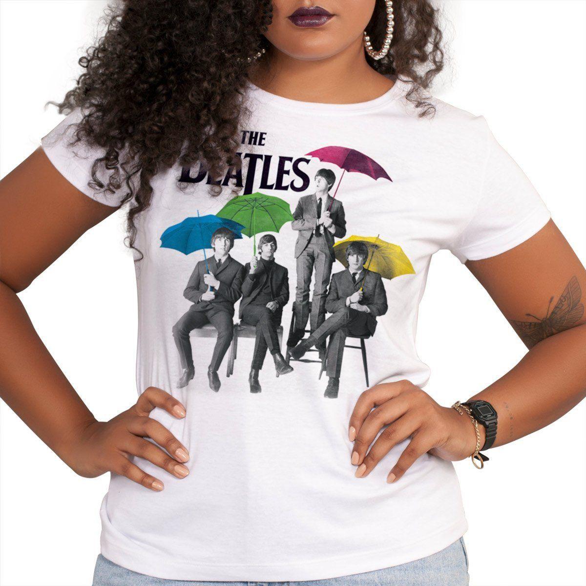 Camiseta Feminina The Beatles Umbrella Colors  - bandUP Store Marketplace