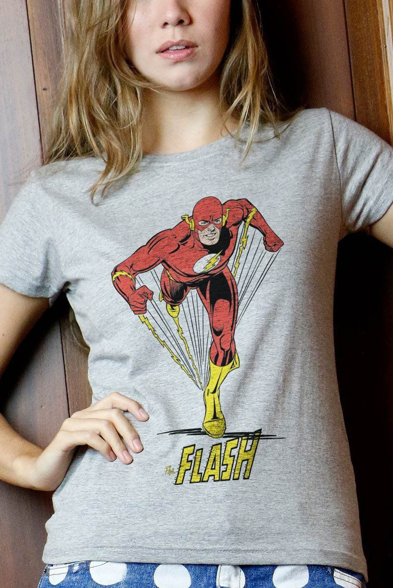 Camiseta Feminina The Flash Em Ação 2  - bandUP Store Marketplace