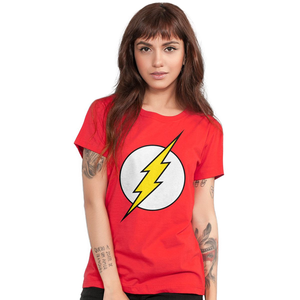 Camiseta Feminina The Flash Logo  - bandUP Store Marketplace
