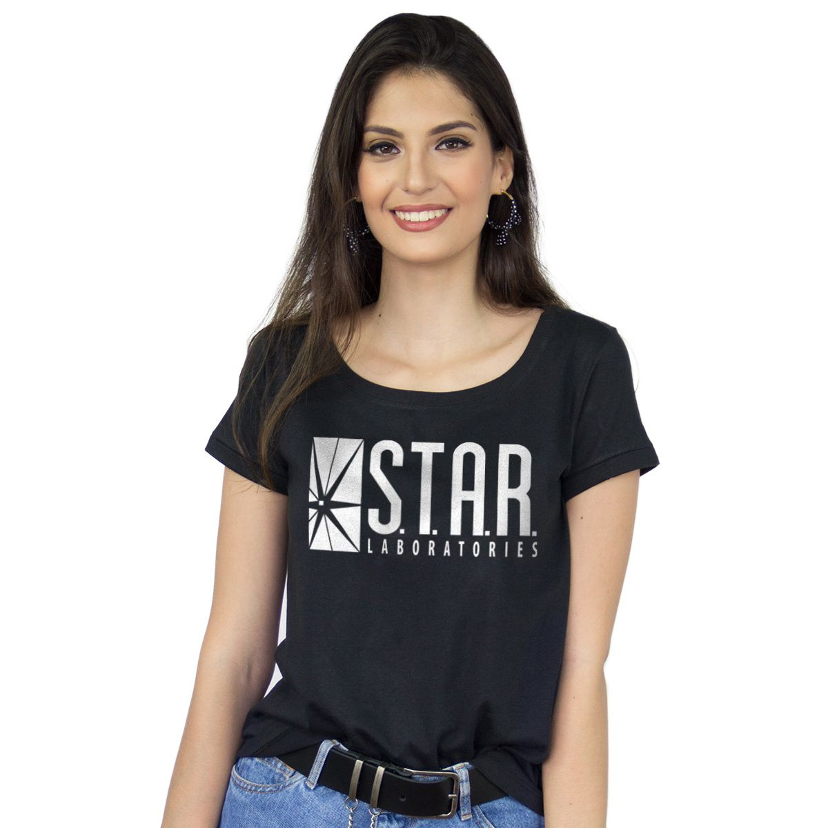 Camiseta Feminina The Flash Serie STAR Laboratories  - bandUP Store Marketplace