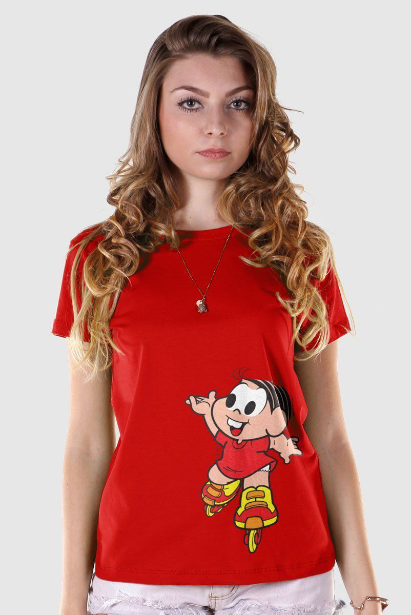 Camiseta Feminina Turma Da Mônica Kids Mônica Roller  - bandUP Store Marketplace
