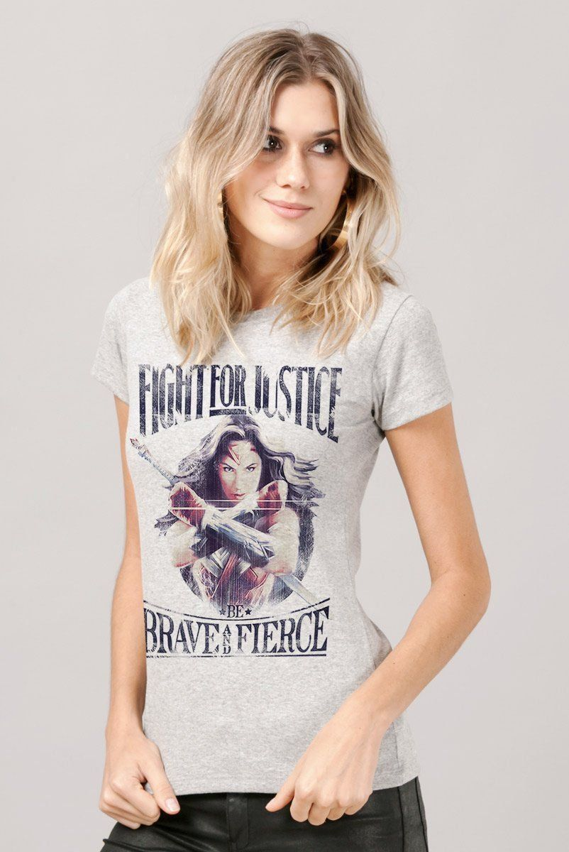 Camiseta Feminina Wonder Woman Fight For Justice  - bandUP Store Marketplace