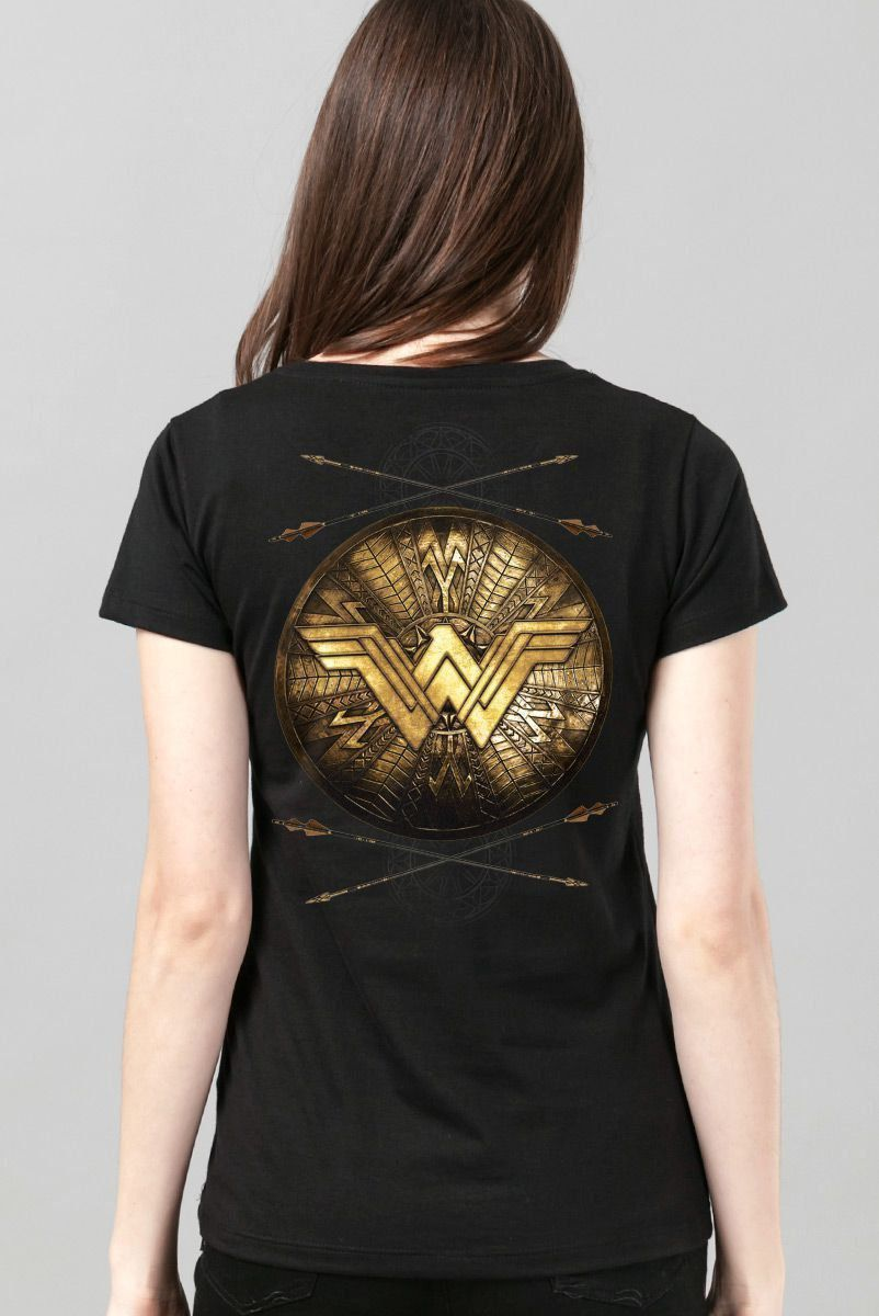 Camiseta Feminina Wonder Woman Shield - bandUP Store Marketplace