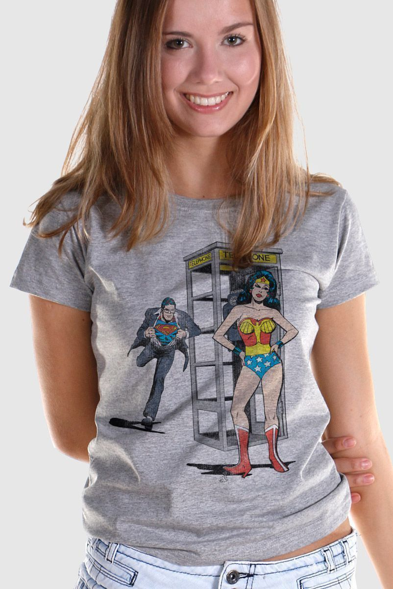 Camiseta Feminina Wonder Woman Telephone  - bandUP Store Marketplace