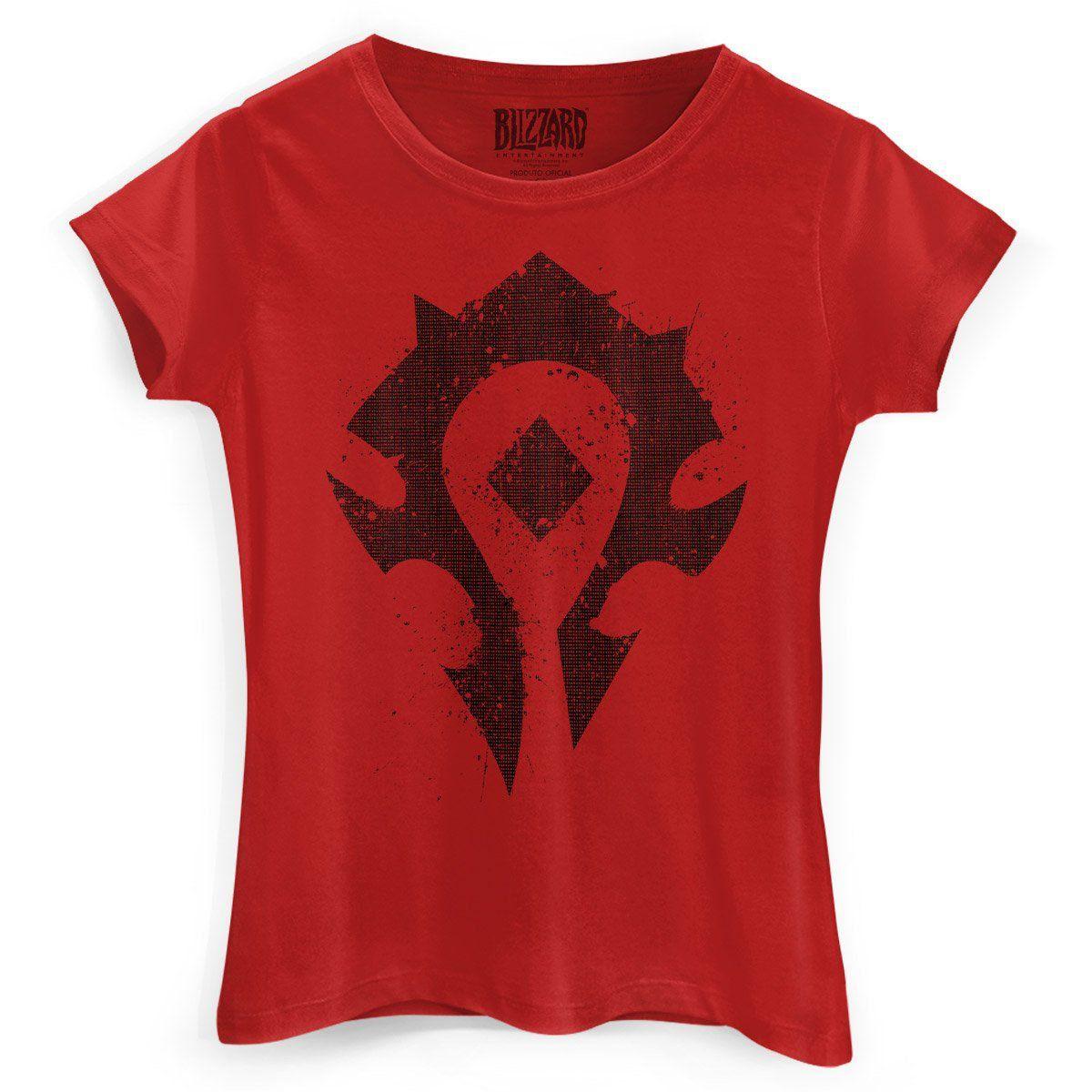 Camiseta Feminina World of Warcraft Horda  - bandUP Store Marketplace