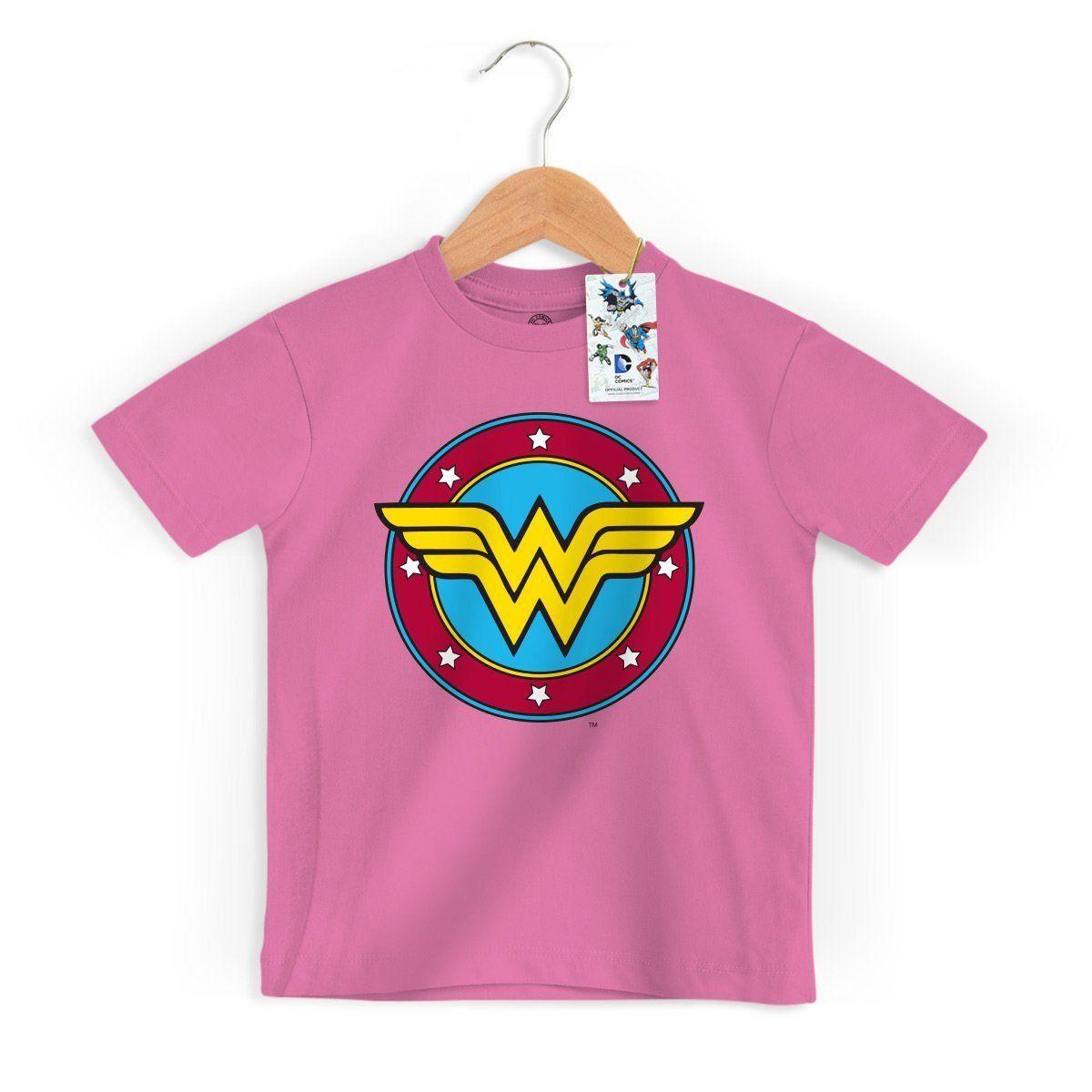 Camiseta Infantil Mulher Maravilha Logo Oficial  - bandUP Store Marketplace
