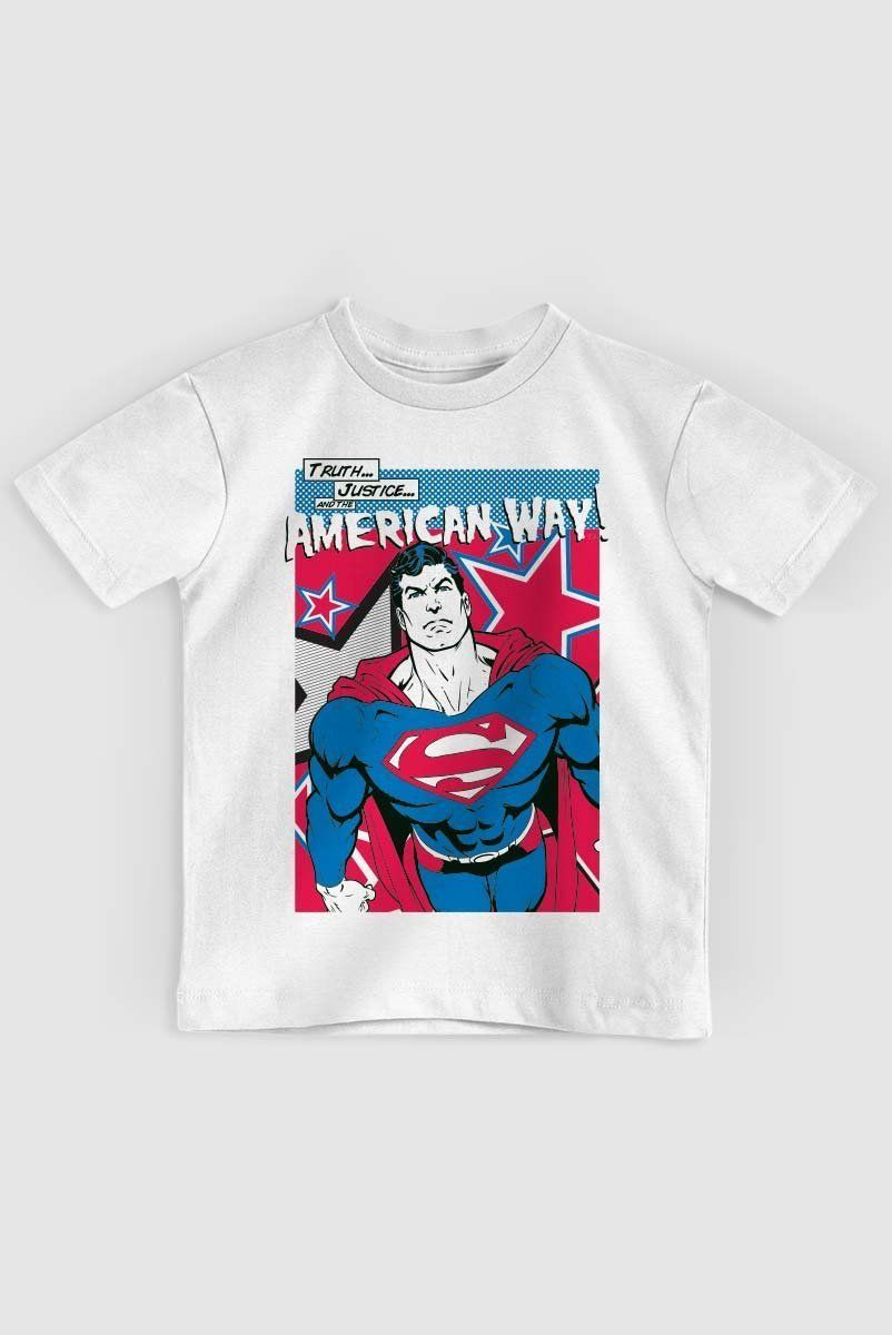 Camiseta Infantil Superman American Way Oficial  - bandUP Store Marketplace