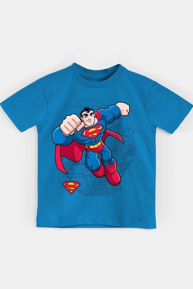 Camiseta Infantil Superman Em Ação Oficial  - bandUP Store Marketplace
