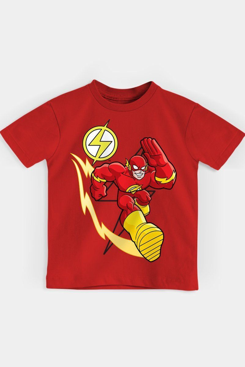 Camiseta Infantil The Flash Em Ação Oficial  - bandUP Store Marketplace