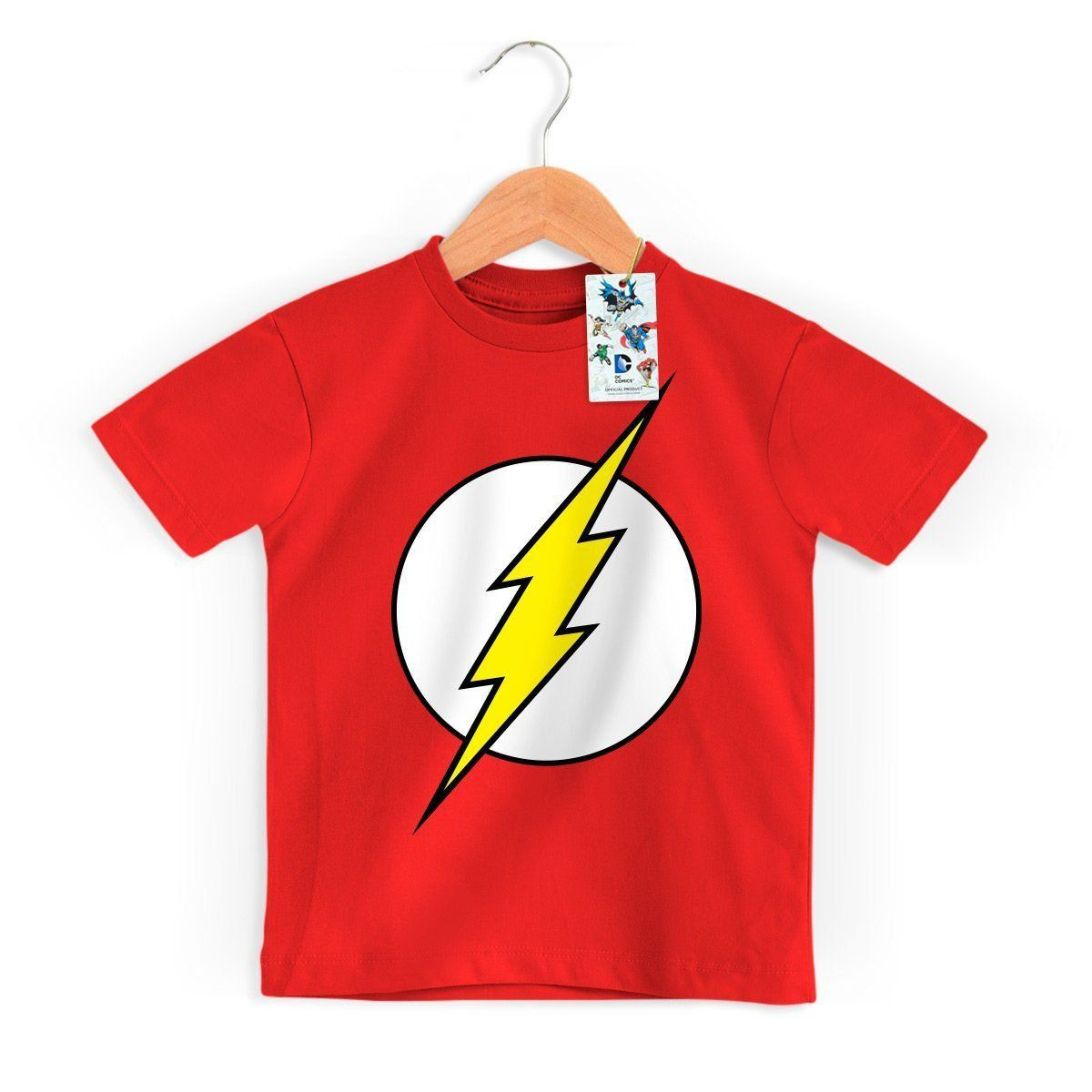 Camiseta Infantil The Flash Logo Oficial  - bandUP Store Marketplace