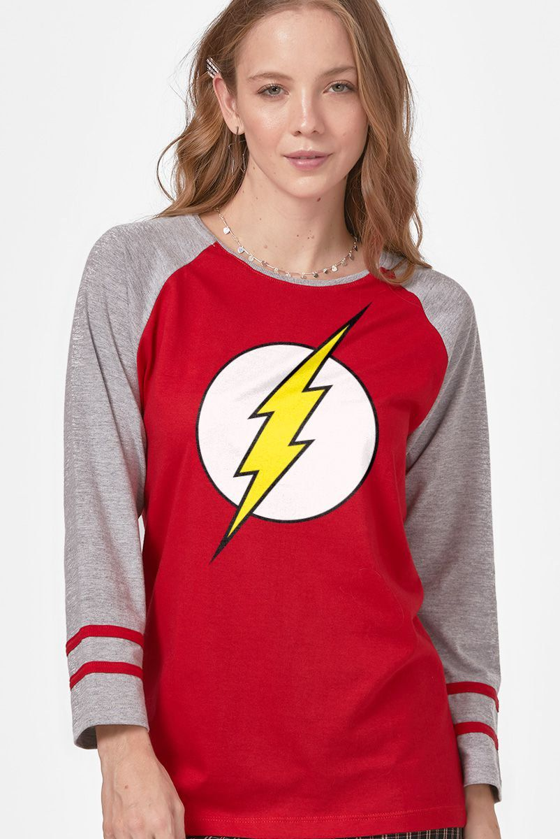 Camiseta Manga Longa Feminina The Flash Logo - bandUP Store Marketplace