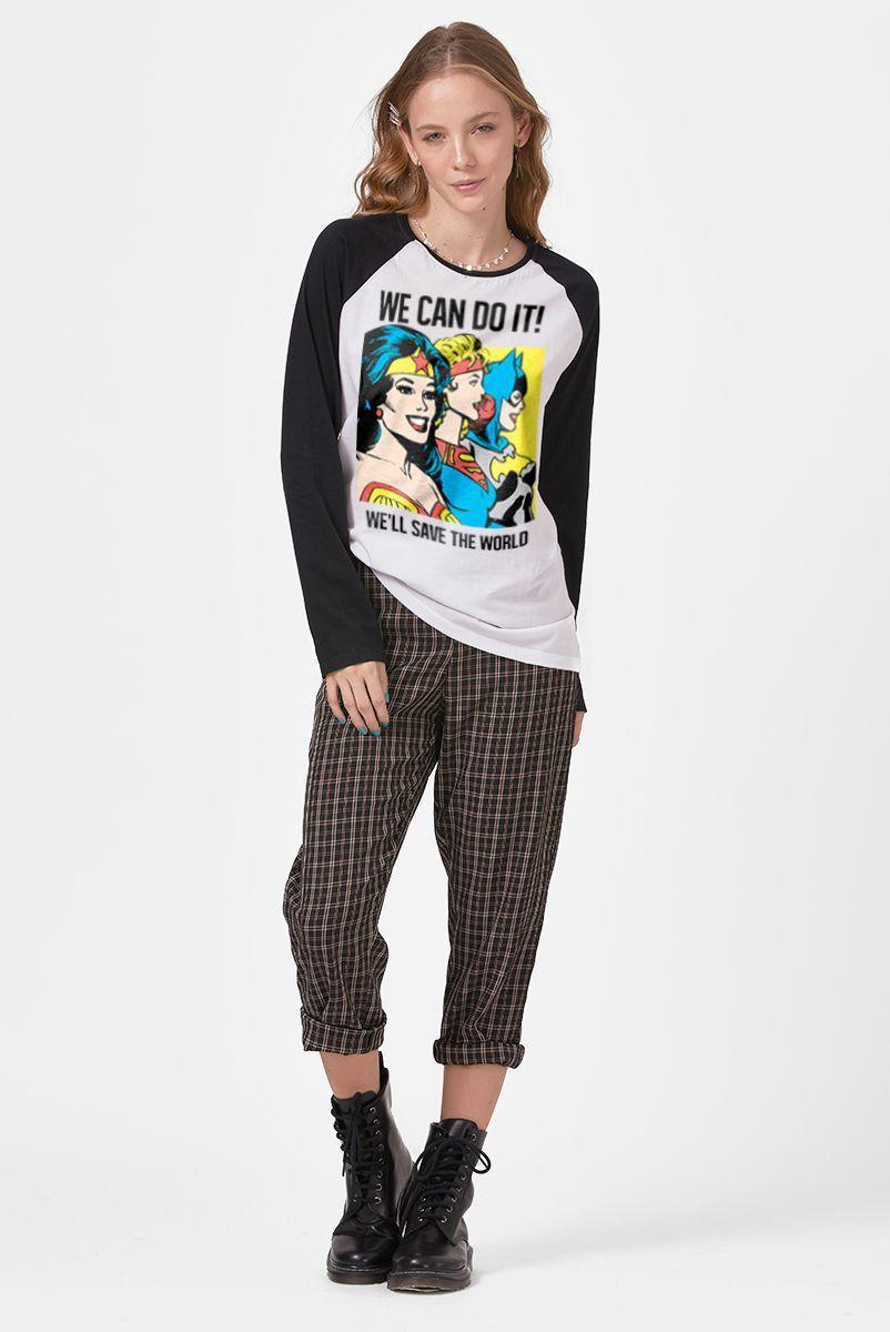Camiseta Manga Longa Feminina We Can do It!  - bandUP Store Marketplace