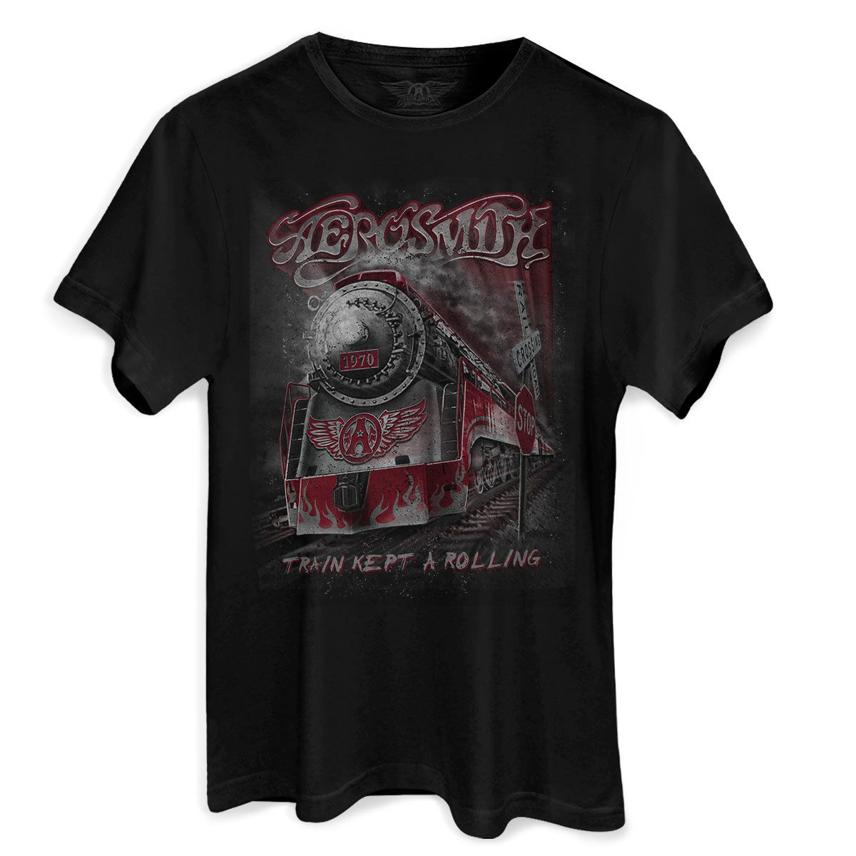 Camiseta Masculina Aerosmith Train Kept a Rolling  - bandUP Store Marketplace
